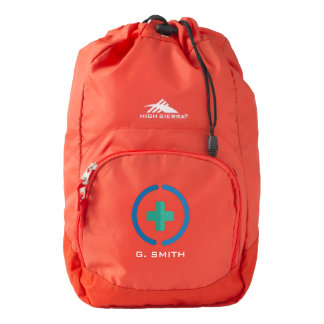 For Doctors and Nurses. Medical Cross. Backpack