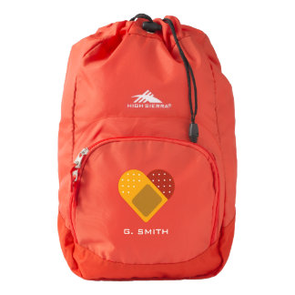 For Doctors and Nurses. Medical Heart Bandage. Backpack