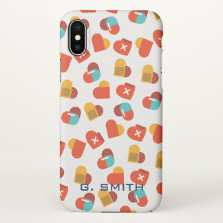 For Doctors and Nurses. Medical Hearts. iPhone X Case