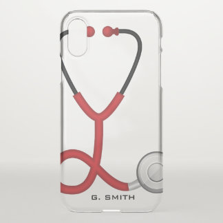 For Doctors and Nurses. Medical Stethoscope. iPhone X Case
