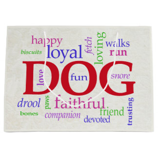 For Dog Lovers Large Gift Bag