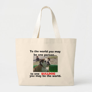 For English Bulldog Lovers Large Tote Bag