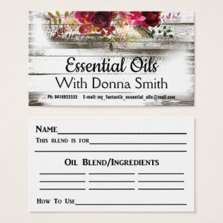 For Essential Oils Business Card