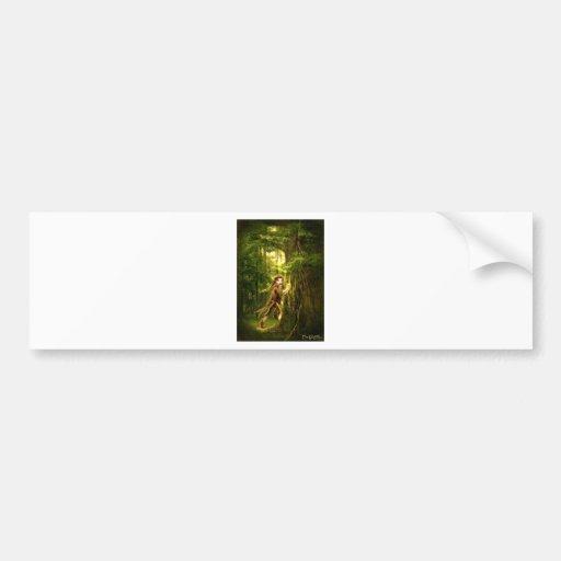 ..for faery folks live in old oaks bumper sticker