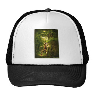 ..for faery folks live in old oaks mesh hats