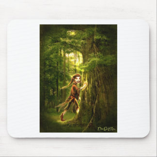 ..for faery folks live in old oaks mouse pad