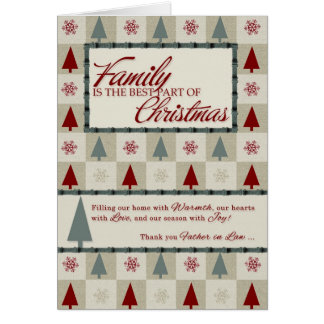 for Father in Law Retro Christmas Trees Card