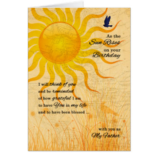 for Father's Birthday Sentimental Sunrise Card