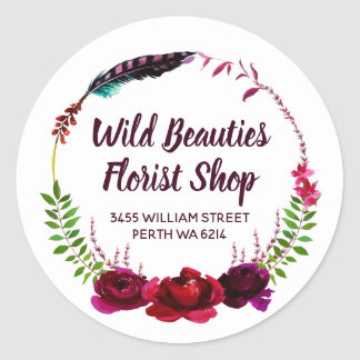 For Florist Classic Round Sticker