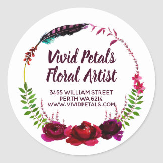 For Florist Floral Artist Classic Round Sticker