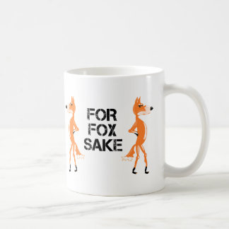 For Fox Sake Arguing Foxes Coffee Mug