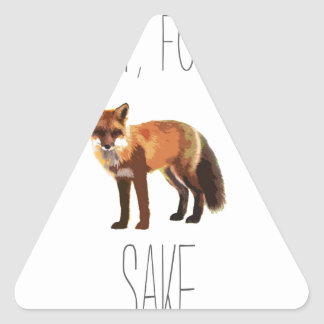 For Fox Sake Arty Cutout Triangle Sticker