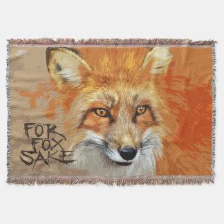 For Fox Sake Design Throw Blanket