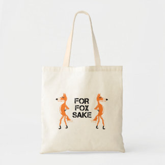 For Fox Sake Foxes Standing Back To Back Tote Bag