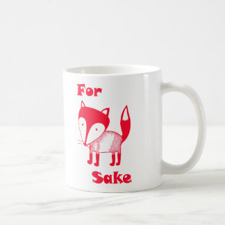 For FOX Sake mug.  Have some coffee for fox sake! Classic White Coffee Mug