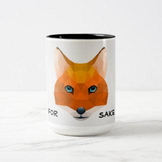 For fox sake Two-Tone coffee mug