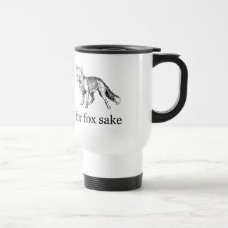For Fox Sake - Vintage Hand-Drawn Fox 15 Oz Stainless Steel Travel Mug