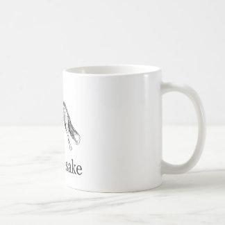 For Fox Sake - Vintage Hand-Drawn Fox Classic White Coffee Mug
