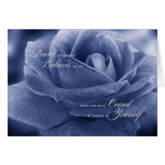 for Friend Thank You Sentimental Blue Tinted Rose Card