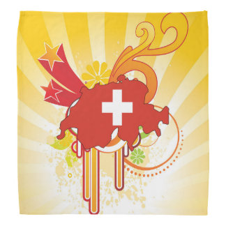 For Gifts: Switzerland Flag Map Head Kerchief