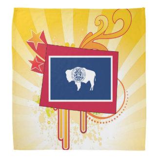 For Gifts: Wyoming Flag Map Bandana