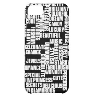 for girls, black and white iPhone 5C case