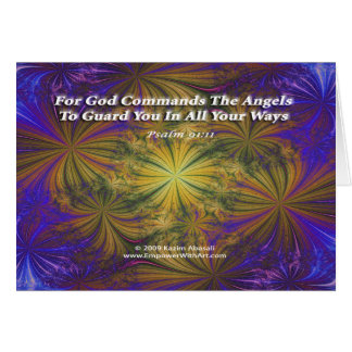 For God Commands The Angels Card