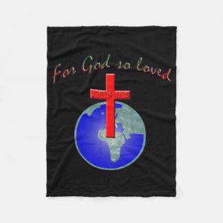 For God so loved Fleece Blanket