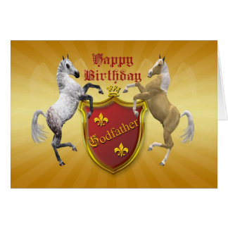 For godfather a birthday card with a coat of arms