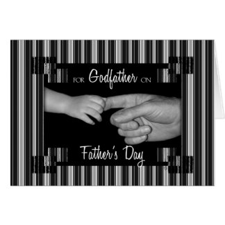 for Godfather on Father's Day Stripes Card