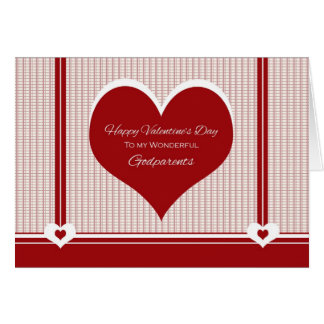 for Godparents Valentine's Day Hearts Card