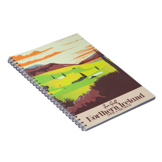 'For Golf' Northern Ireland Travel poster Notebook