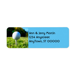 for golfers return address label golf ball design