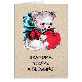 For Grandma on Mother's Day. Sweet Teddy Bear Card
