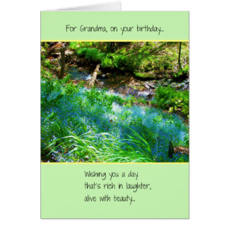 For Grandma, On Your Birthday Card