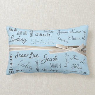For Grandmother | Grandchildren Names Collage Lumbar Pillow