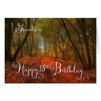 for Grandson's 18th Birthday - Woodland Path Card