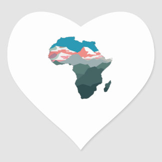 FOR GREAT AFRICA HEART STICKER