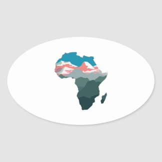 FOR GREAT AFRICA OVAL STICKER