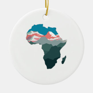 FOR GREAT AFRICA ROUND CERAMIC ORNAMENT