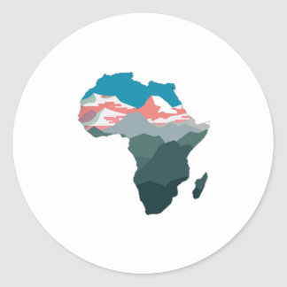 FOR GREAT AFRICA ROUND STICKER