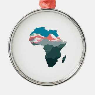 FOR GREAT AFRICA Silver-Colored ROUND ORNAMENT