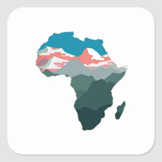 FOR GREAT AFRICA SQUARE STICKER