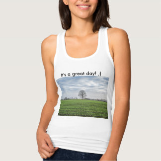 For great mood! Tank top with photo and text.