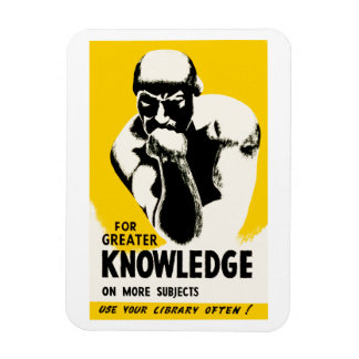 For Greater Knowledge Rectangular Photo Magnet
