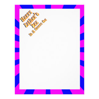 For Groovy Guy  Retro Father's Day (Pink & Blue) Custom Flyer