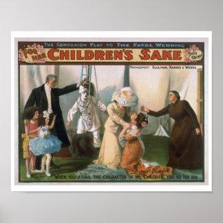 For Her Children's Sake Vintage Theatre Poster