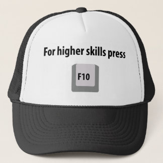 for higher skills press F 10 counter strike icon Trucker Hat