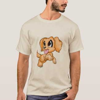 For Him: Golden Retriever Dog Art Men's T-shirt