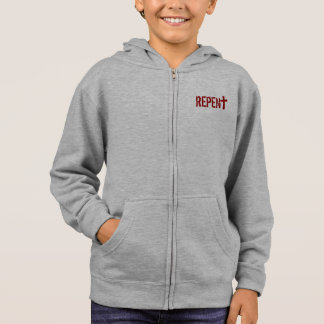 for HIM (youth): REPENT + Acts 3:19 Hoodie